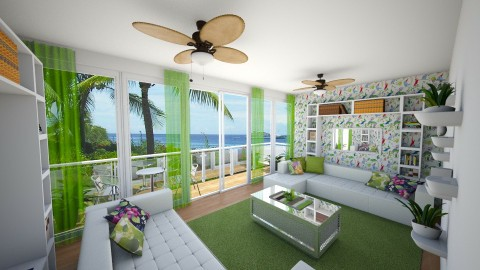 Tropical Inspiration - Living room - by Alexandra U Field