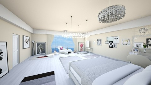 Cream and blue - Bedroom - by canadian architect