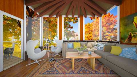 Fall Treehouse - Living room - by deleted_1513655778_Valencey14