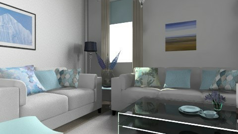 blu story - Living room - by cat17017