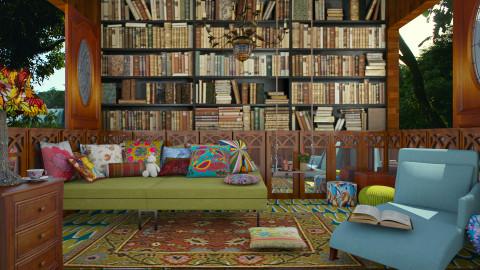 Ambiente de Leitura - Vintage - Living room - by Mayara Pedreira