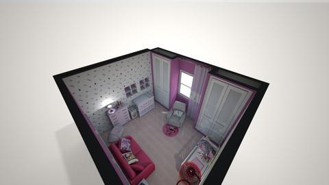 Quarto de Baby 2  - Feminine - Kids room - by Mariesse Paim