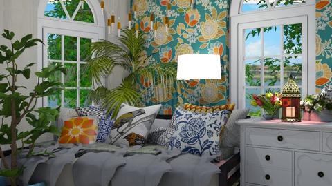 comfy boho - Global - Living room - by HIHELLOHI