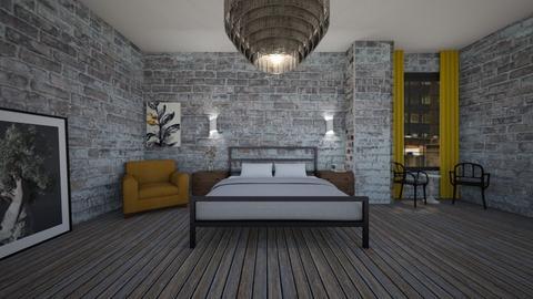 yellow  - Bedroom - by MaluMeyer