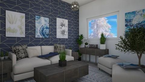 Blue Winter - Living room - by millerfam