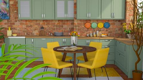 corful kitchen - Kitchen - by ivetyy1010