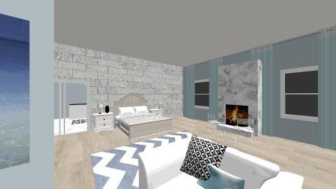 Modern Splash of Blue - Modern - Bedroom - by AquaCoconut