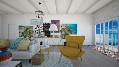 Tropical Prints - Living room - by serenellc27