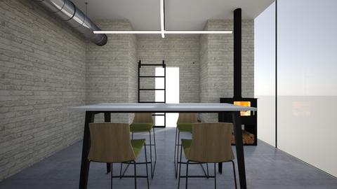 industrial office - Office - by TheColorConsultant