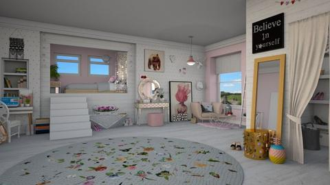Teen Dream Room - Bedroom - by Nicky West
