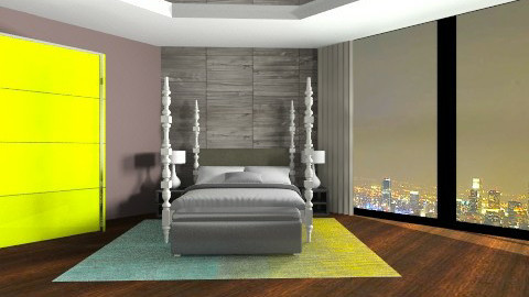 Green bedroom - by Estoy loca13