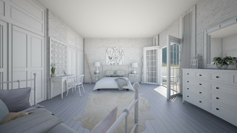 White - Eclectic - Bedroom - by camilla_saurus