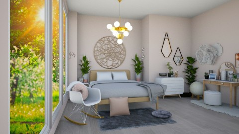Pink Bedroom - Modern - Bedroom - by gtenenbaum1