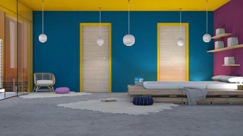 modern rainbows - Modern - Bedroom - by NEVERQUITDESIGNIT