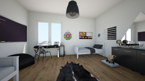 Chalk Art Double Room - Bedroom - by Sunny Bunny