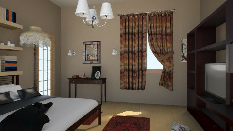 Chocolate - Rustic - Bedroom - by Sali15