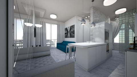 apartamento 01 - Minimal - Living room - by kelly lucena