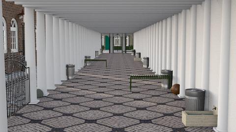 Pillared hallway - Classic - by HenkRetro1960