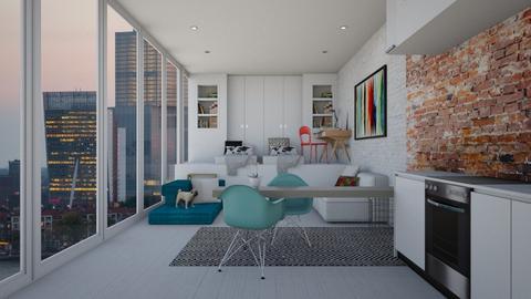 City Dorm - Modern - Living room - by bgref