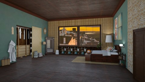Jessica Day - Retro - Bedroom - by deleted_1524667005_Elena68