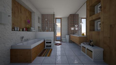Banheiro com Banheira - Glamour - Bathroom - by Mariesse Paim