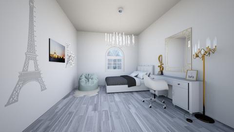 Small teen girl bedroom  - Modern - Bedroom - by Yana Kutsak