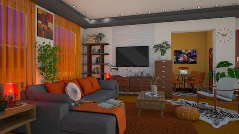 Orange Carpet - Living room - by snjeskasmjeska