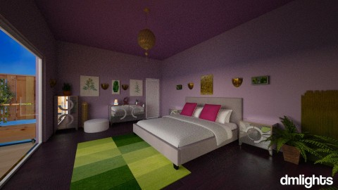Purple and Green bedroom - Modern - Bedroom - by Perta
