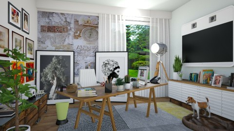 Home Office for Kelly 1 - Office - by kaladey