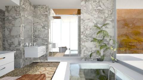 Beige bath - Modern - Bathroom - by AnnaMull
