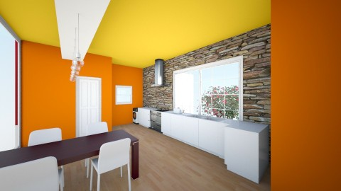 Red Kitchen - Glamour - Kitchen - by advanced_element