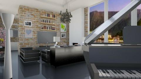 rusto black  - Retro - Living room - by Nhezi