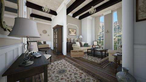 colonial - Living room - by Senia N