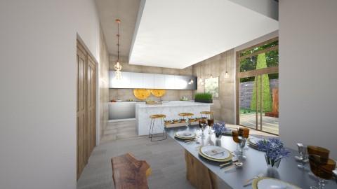Kitchen with tarasse - Modern - Kitchen - by michalbank11