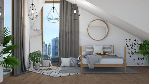 modern attic - Modern - Bedroom - by NEVERQUITDESIGNIT