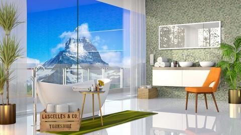 Green Bathroom - Bathroom - by rungsimas