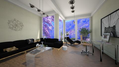 Black - Modern - Living room - by silvye