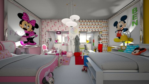 m and m - Classic - Kids room - by donella