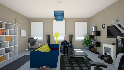 Bachelor Pad - Living room - by Evihun