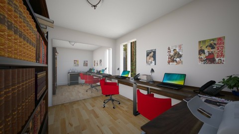 For Brandy_Tod IV - Eclectic - Office - by Theadora