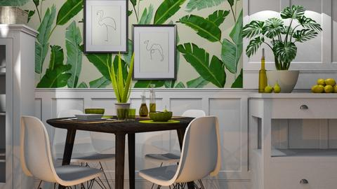 Green dining 2 - Dining room - by RonRon