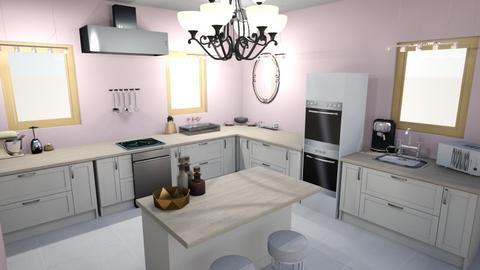 chic kitchen - Feminine - Kitchen - by elladesign