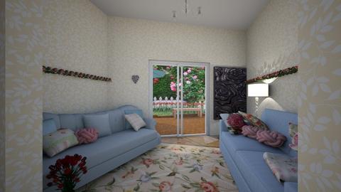 Rose garden  - Feminine - Living room - by MoolyLOL