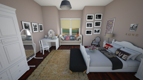 11 Romantic bedroom - Glamour - Bedroom - by Agata_ody