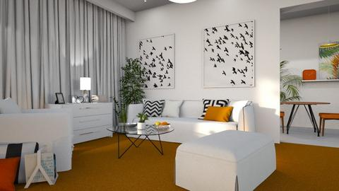 Orange Carpet - Living room - by anjaam