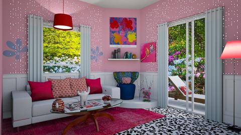 modern playful - Living room - by ashpashly