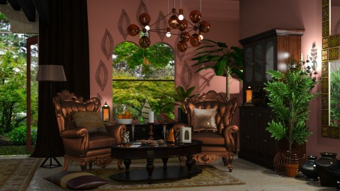 Copper and rose - Rustic - Living room - by ZsuzsannaCs
