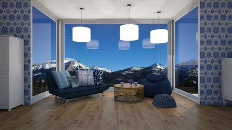 Blue - Living room - by marysiawiszniowska