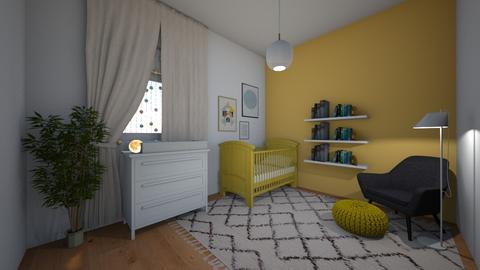 nursery yellow - Minimal - Kids room - by yaelygreen