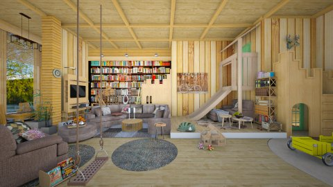 kids and parents - Eclectic - Living room - by Ida Dzanovic